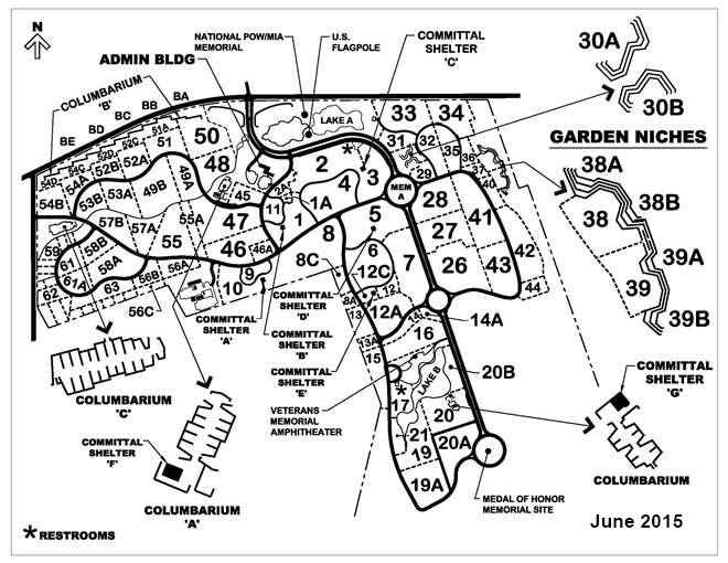 Riverside National Cemetery Map Scrapbook   Generated by Ancestral Quest Riverside National Cemetery Map
